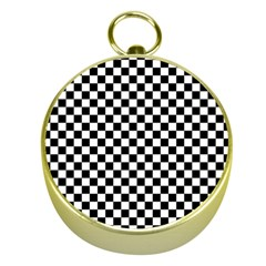 Checker Black And White Gold Compasses by jumpercat