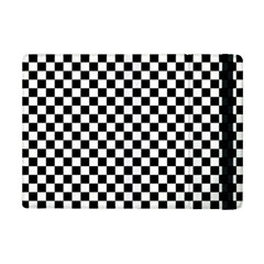 Checker Black And White Ipad Mini 2 Flip Cases by jumpercat