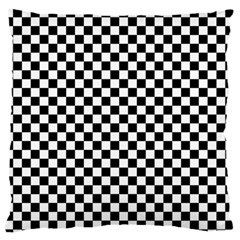 Checker Black And White Large Flano Cushion Case (one Side) by jumpercat