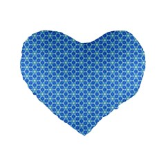 Fresh Tiles Standard 16  Premium Flano Heart Shape Cushions