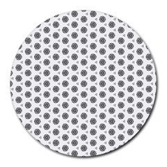 Abstract Pattern 2 Round Mousepads by jumpercat
