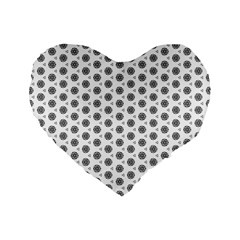 Abstract Pattern 2 Standard 16  Premium Flano Heart Shape Cushions