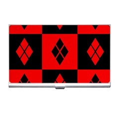 Red And Black Pattern Business Card Holders