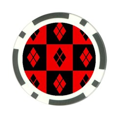 Red And Black Pattern Poker Chip Card Guard (10 Pack)