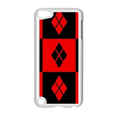 Red And Black Pattern Apple Ipod Touch 5 Case (white)