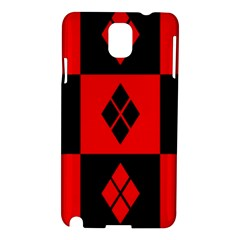 Red And Black Pattern Samsung Galaxy Note 3 N9005 Hardshell Case