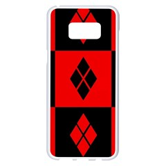 Red And Black Pattern Samsung Galaxy S8 Plus White Seamless Case by Samandel