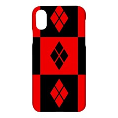 Red And Black Pattern Apple Iphone X Hardshell Case