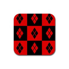 Harley Quinn Pattern Rubber Square Coaster (4 Pack)