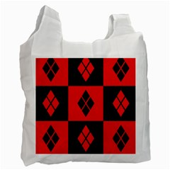 Harley Quinn Pattern Recycle Bag (two Side)