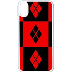 Harley Quinn Pattern Apple Iphone X Seamless Case (white)