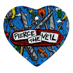Album Cover Pierce The Veil Misadventures Heart Ornament (two Sides) by Samandel