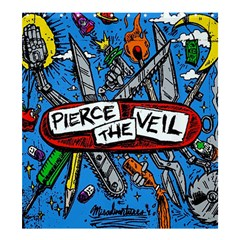 Album Cover Pierce The Veil Misadventures Shower Curtain 66  X 72  (large)  by Samandel