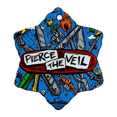 Album Cover Pierce The Veil Misadventures Snowflake Ornament (two Sides) by Samandel
