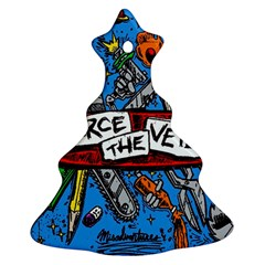 Album Cover Pierce The Veil Misadventures Christmas Tree Ornament (two Sides) by Samandel