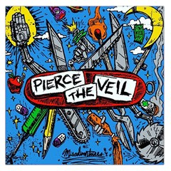 Album Cover Pierce The Veil Misadventures Large Satin Scarf (square) by Samandel