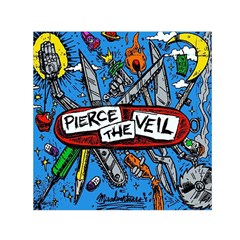 Album Cover Pierce The Veil Misadventures Small Satin Scarf (square) by Samandel