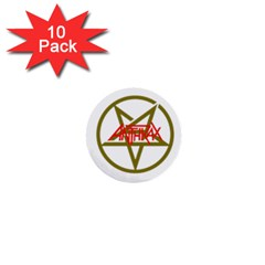 Anthrax Band Logo 1  Mini Buttons (10 Pack)