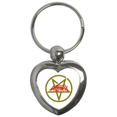 Anthrax Band Logo Key Chains (heart)