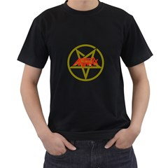Anthrax Band Logo Men s T Shirt (black) (two Sided)