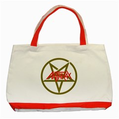 Anthrax Band Logo Classic Tote Bag (red) by Samandel