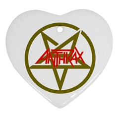 Anthrax Band Logo Heart Ornament (two Sides) by Samandel