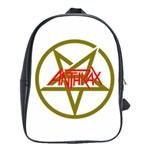 Anthrax Band Logo School Bag (Large) Front