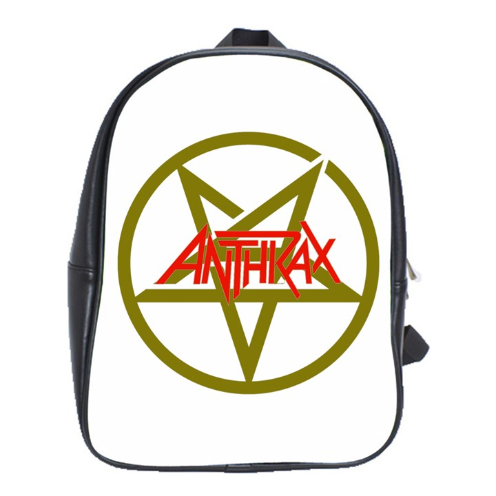 Anthrax Band Logo School Bag (Large)