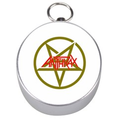 Anthrax Band Logo Silver Compasses