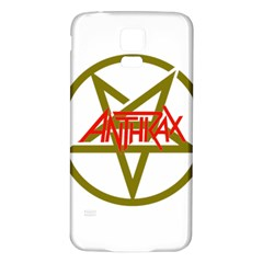 Anthrax Band Logo Samsung Galaxy S5 Back Case (white) by Samandel