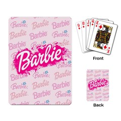Barbie Pattern Playing Card