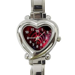 Nectar Galaxy Nebula Heart Italian Charm Watch by Samandel