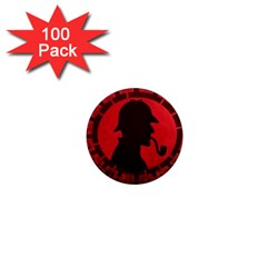 Book Cover For Sherlock Holmes And The Servants Of Hell 1  Mini Magnets (100 Pack)