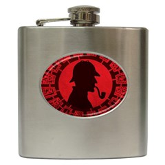 Book Cover For Sherlock Holmes And The Servants Of Hell Hip Flask (6 Oz) by Samandel