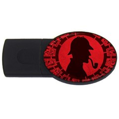Book Cover For Sherlock Holmes And The Servants Of Hell Usb Flash Drive Oval (4 Gb)