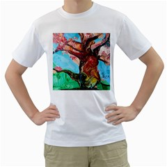 Big Coral Tree Men s T Shirt (white) (two Sided) by bestdesignintheworld