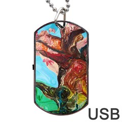 Big Coral Tree Dog Tag Usb Flash (two Sides) by bestdesignintheworld