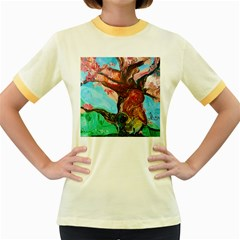 Big Coral Tree Women s Fitted Ringer T-shirts by bestdesignintheworld