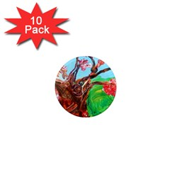 Coral Tree Blooming 1  Mini Magnet (10 Pack)  by bestdesignintheworld
