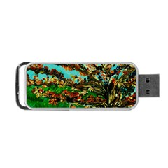 Coral Tree 1 Portable Usb Flash (one Side) by bestdesignintheworld