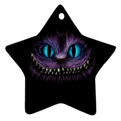 Cheshire Cat Animation Ornament (star)