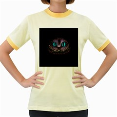 Cheshire Cat Animation Women s Fitted Ringer T Shirts