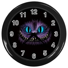 Cheshire Cat Animation Wall Clocks (black)
