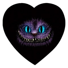 Cheshire Cat Animation Jigsaw Puzzle (heart) by Samandel