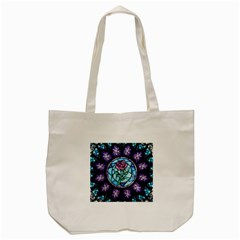 Cathedral Rosette Stained Glass Tote Bag (cream)