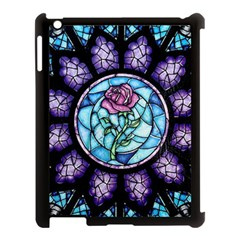 Cathedral Rosette Stained Glass Apple Ipad 3/4 Case (black) by Samandel