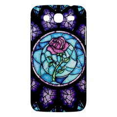 Cathedral Rosette Stained Glass Samsung Galaxy Mega 5 8 I9152 Hardshell Case  by Samandel