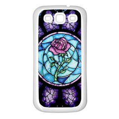 Cathedral Rosette Stained Glass Samsung Galaxy S3 Back Case (white) by Samandel