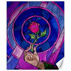 Enchanted Rose Stained Glass Canvas 8  X 10  by Samandel