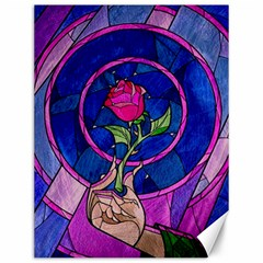 Enchanted Rose Stained Glass Canvas 12  X 16   by Samandel